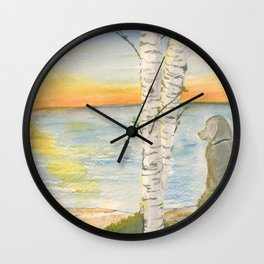 Shoreline Doggy Daze Wall Clock