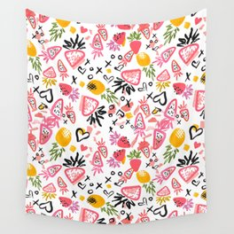 Fun Fruits Wall Tapestry