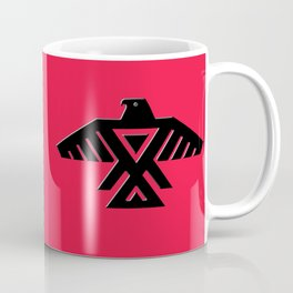Animikii Thunderbird doodem on red - HQ image Coffee Mug