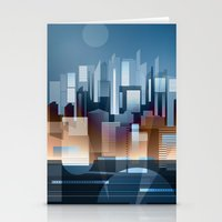 metropolis Stationery Cards featuring Metropolis by Herb Vaine