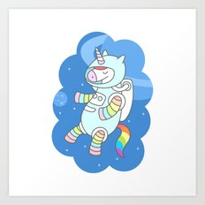 Unicorn Astronaut Art Print