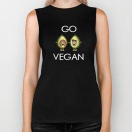 Go Vegan Avocado Biker Tank