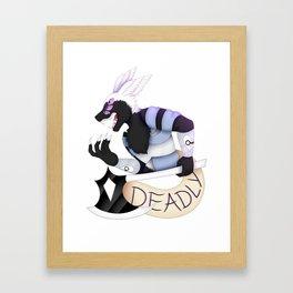 Deadly Framed Art Print