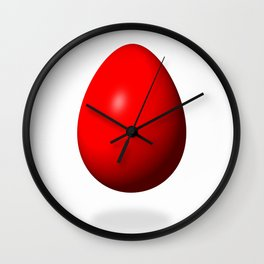 Egg Red Wall Clock