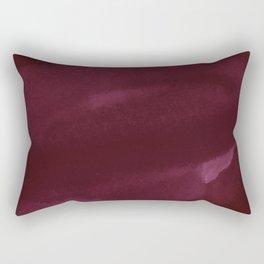 Abstract modern dark burgundy watercolor Rectangular Pillow