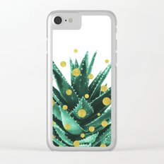 Christmas Succulent Clear iPhone Case