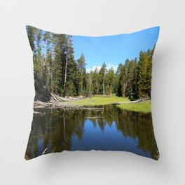 Morning Serenity At The Yellowstone NP Throw Pillow