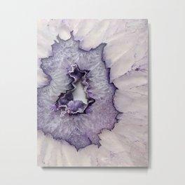 Purple Frost Agate Metal Print