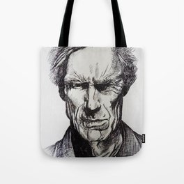 Clint Eastwood Pen portrait Tote Bag