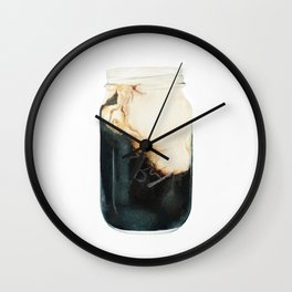 Iced Coffee in Mason Jar Wall Clock