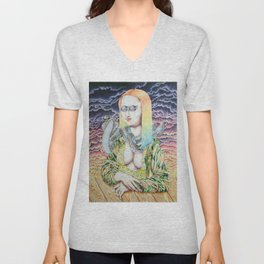 Mona Lisa and the Love Snake Live to Party Unisex V-Neck
