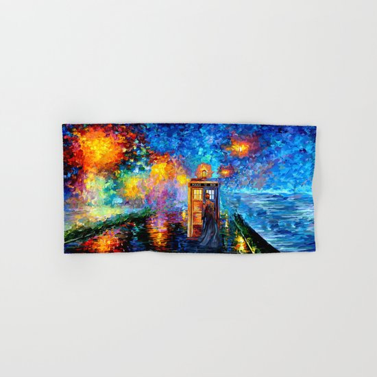 The 10th Doctor who Starry the night Art painting iPhone 4 4s 5 5c 6 7, pillow case, mugs and tshirt Hand & Bath Towel