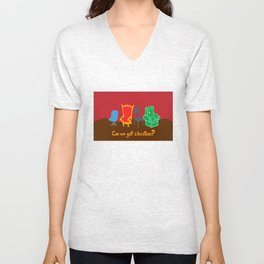 Can We Get A Location? Unisex V-Neck
