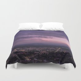Asheville Stormy Nights Passing By Duvet Cover