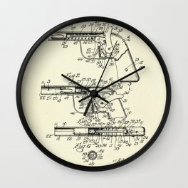 Marble Shooting Pistol-1932 Wall Clock