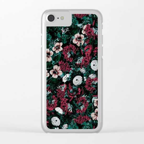 NIGHT FOREST XVII Clear iPhone Case