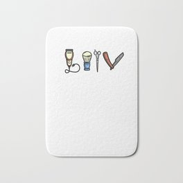 Funny Barber design Hairdresser Gift Bath Mat