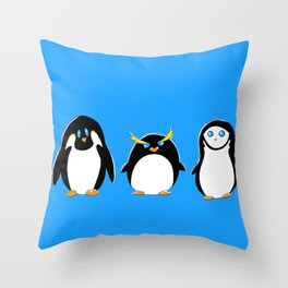 Penguin Brother From Another Mother Throw Pillow