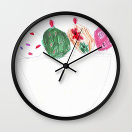 The Many Scoops of Ice Cream Wall Clock