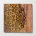Mandala on wood by mantramandala