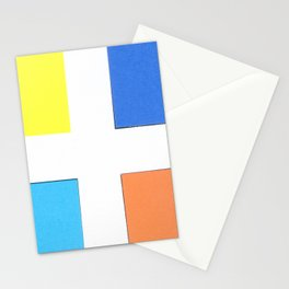 Squares in cross Stationery Cards