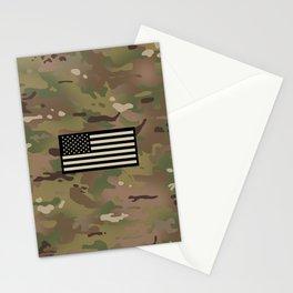 U.S. Flag: Woodland Camouflage Stationery Cards