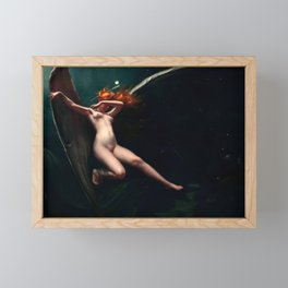 "Luis Ricardo Falero ""A Fairy Under Starry Skies"" Framed Mini Art Print"