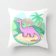 Baby Dino Throw Pillow