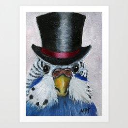 Parakeet Hat Parade #7 Brock Art Print