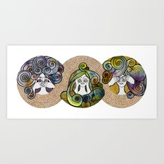 3wise girl Art Print
