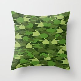 Handy Camo GREEN Throw Pillow