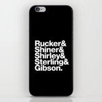 cyberpunk iPhone & iPod Skins featuring Cyberpunk Jetset by Largetosti