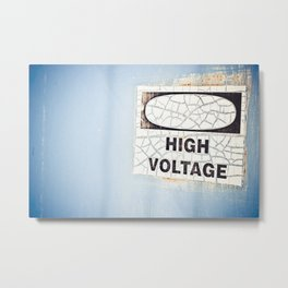 blue voltage Metal Print
