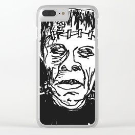 Frankenstein's Monster Clear iPhone Case