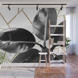 Ficus Elastica Geo #1 #tropical #foliage #decor #art #society6 Wall Mural