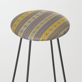 Granny's Fairisle - Honey Yellow Counter Stool