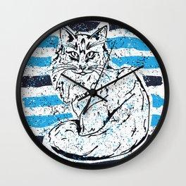 Cat stripes Wall Clock