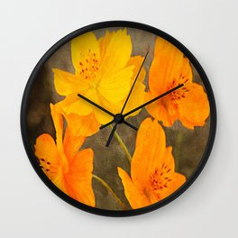 Bright Lights Cosmos Flowers Wall Clock