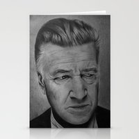 david lynch Stationery Cards featuring David Lynch by Alessandro Modesti