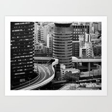 Not so little Osaka Art Print