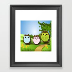 Country Owls Framed Art Print