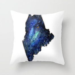 Maine Galaxy Throw Pillow