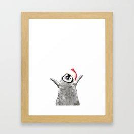 Christmas Baby Penguin Framed Art Print