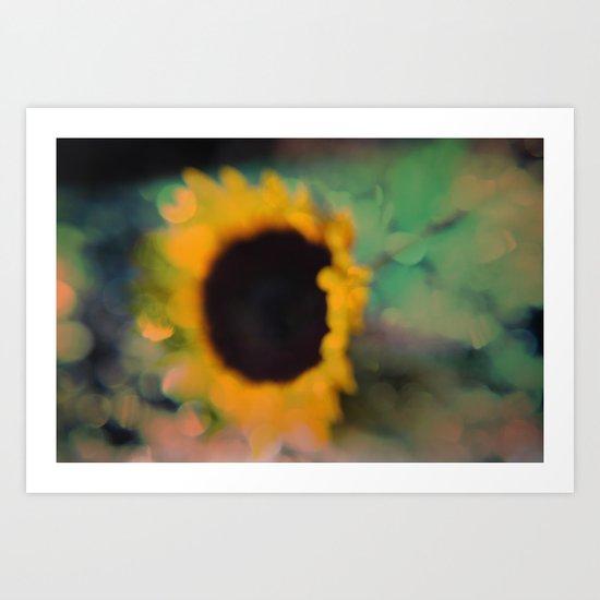 Sunflower III (mini series) Art Print