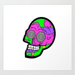 Psych Skull Art Print