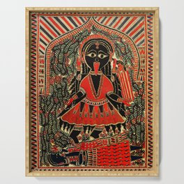 Hindu Kali 16 Serving Tray