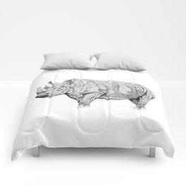 Northern White Rhino Comforters