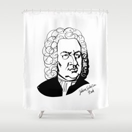 Johann Sebastian Bach Shower Curtain