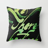 acdc Throw Pillows featuring Let There Be Rock by Miguel Pécora
