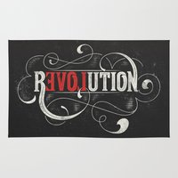 revolution Area & Throw Rugs featuring Revolution by Mobe13